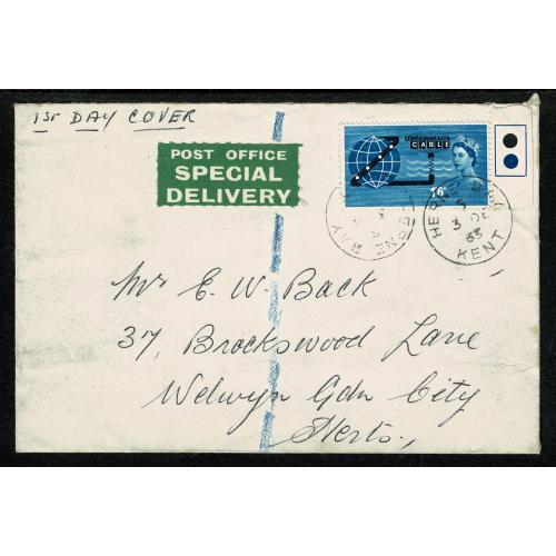 1963 COMPAC 1/6 (ord). FDC with Herne Bay, Kent FDI cancel
