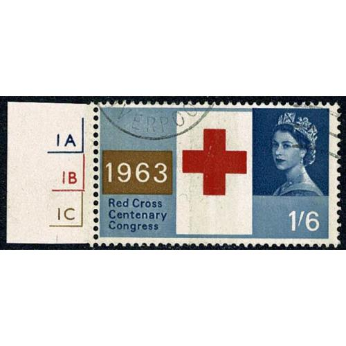 1963 Red Cross 1/6 (phos). FU  cylinder single. SG 644p