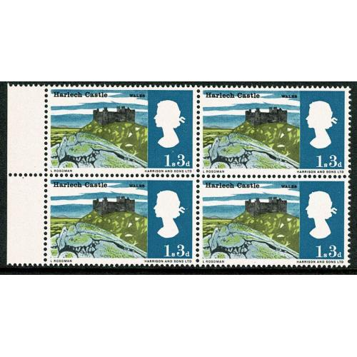 1966 Landsacpes 1/3 (ord). Listed minor constant variety accent above ES of WALES SG 691 var
