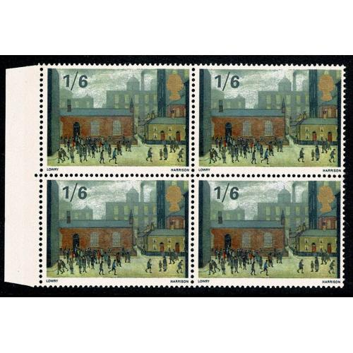 1967 Paingings 1/6. Listed constant variety extra window marginal block. SG Spec. W121f