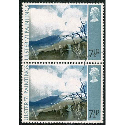 1971 Ulster Paintings 7½p. Foreign material printing flaw. SG 882 var.