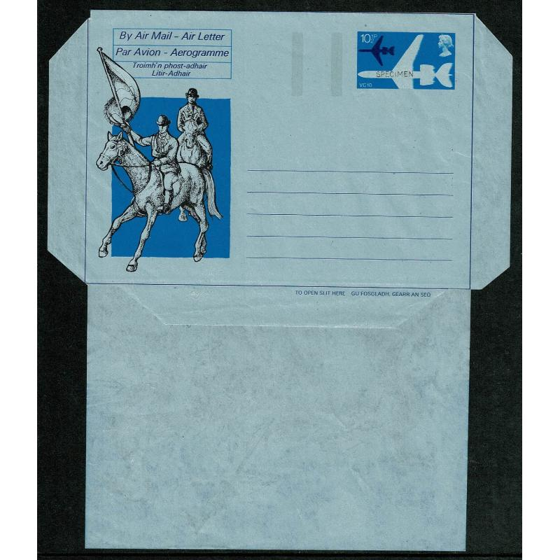 1976 Scotland Traditions Airletter SPECIMEN overprint.