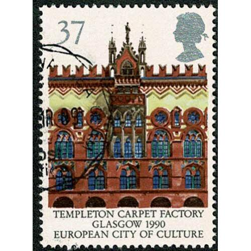 1990 Europa (Glasgow City of Culture). 37p Very Fine Used single. SG 1496